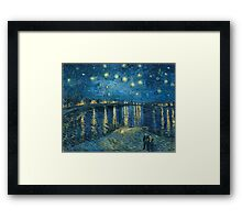 Vincent Van Gogh - Starry Night on the Rhone Framed Print