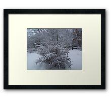 Layered in White Framed Print