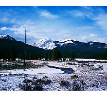 Winter in Morain Park, Rocky National Park Photographic Print