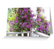 Purple Invasion Greeting Card