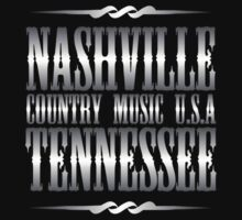 Silver Nashville Tennessee Country Music One Piece - Short Sleeve