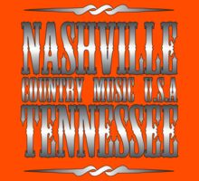 Silver Nashville Tennessee Country Music Kids Tee