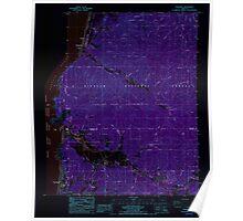 USGS Topo Map Oregon Neskowin 280910 1985 24000 Inverted Poster