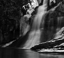 Ice Falls in Black & White by Lolabud