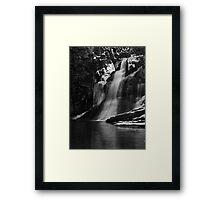 Ice Falls in Black & White Framed Print