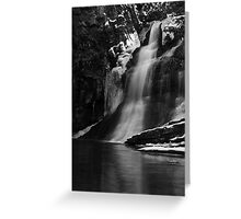Ice Falls in Black & White Greeting Card
