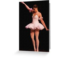 The Lonely Ballerina Greeting Card