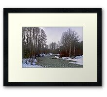 Waves of Ice Framed Print