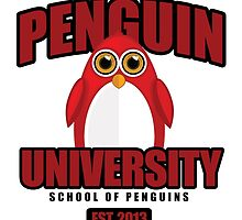 Penguin University - Red by Adamzworld