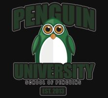 Penguin University - Green 2 Baby Tee
