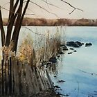 """Serenity - Rockland Lake upstate New York"" by Spenceartist"