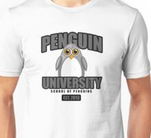 Penguin University - Grey Unisex T-Shirt