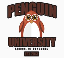 Penguin University - Brown 2 One Piece - Long Sleeve