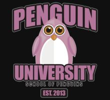 Penguin University - Pink 2 Kids Tee