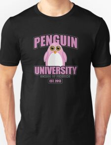 Penguin University - Pink 2 Unisex T-Shirt