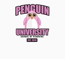 Penguin University - Pink Womens Fitted T-Shirt