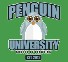 Penguin University - Blue 2 Baby Tee