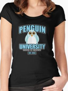 Penguin University - Blue 2 Women's Fitted Scoop T-Shirt