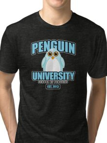 Penguin University - Blue 2 Tri-blend T-Shirt