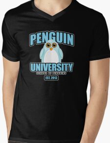 Penguin University - Blue 2 Mens V-Neck T-Shirt