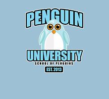 Penguin University - Blue Womens Fitted T-Shirt