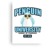 Penguin University - Blue Canvas Print