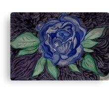 The Blue Rose Canvas Print