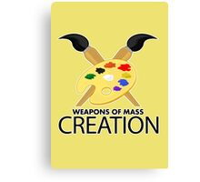 Weapons of mass creation - Yellow Canvas Print