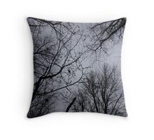 Cottonwood Trees at Smith and Bybee Wetlands Throw Pillow