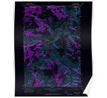 USGS Topo Map Oregon Troy 281879 1967 24000 Inverted Poster