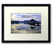 Lamb, Water pierce Framed Print