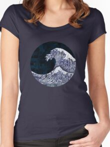 Tidal (Walls Notebook) Women's Fitted Scoop T-Shirt