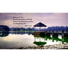 Life, water pierce Photographic Print
