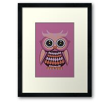 Star Eye Owl - Purple Orange 3 Framed Print