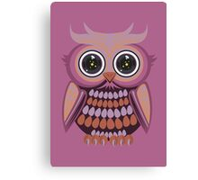 Star Eye Owl - Purple Orange 3 Canvas Print