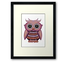 Star Eye Owl - Purple Orange Framed Print