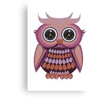 Star Eye Owl - Purple Orange Canvas Print