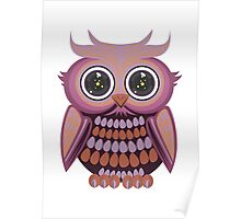 Star Eye Owl - Purple Orange Poster
