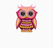 Star Eye Owl - Pink Orange Womens Fitted T-Shirt
