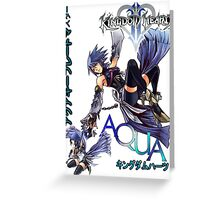 Aqua Kingdom hearts  Greeting Card