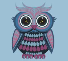 Star Eye Owl - Blue Purple 3 Kids Clothes