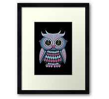Star Eye Owl - Blue Purple 2 Framed Print