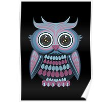 Star Eye Owl - Blue Purple 2 Poster