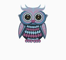 Star Eye Owl - Blue Purple Womens Fitted T-Shirt