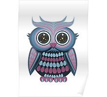 Star Eye Owl - Blue Purple Poster