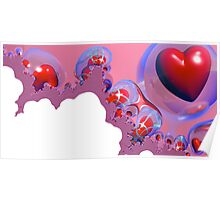 Bubbling Hearts Poster