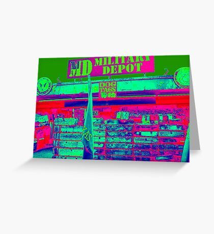 ARMY NAVY STORE Greeting Card
