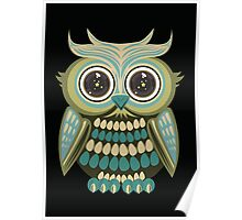 Star Eye Owl - Green 3 Poster