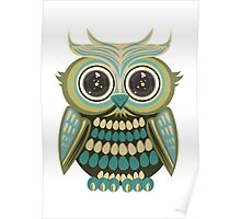 Star Eye Owl - Green 2 Poster