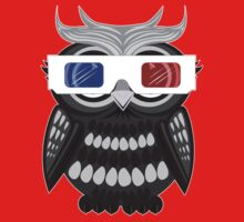 Owl - 3D Glasses - White Kids Clothes